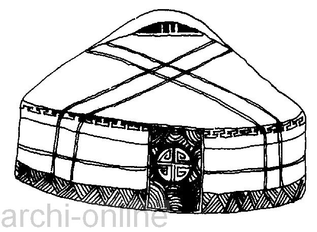 【照片】蒙古族民居—八部架蒙古包